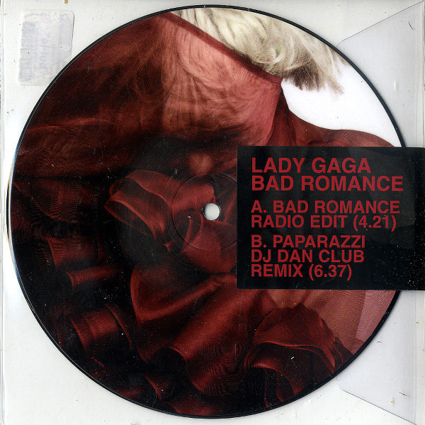 BAD ROMANCE 7 PICTURE DISC/ LADY GAGA-CD-DISQUES-RECORDS-STORE-LPS-VINYLS-SHOP-COLLECTORS-AWARDS