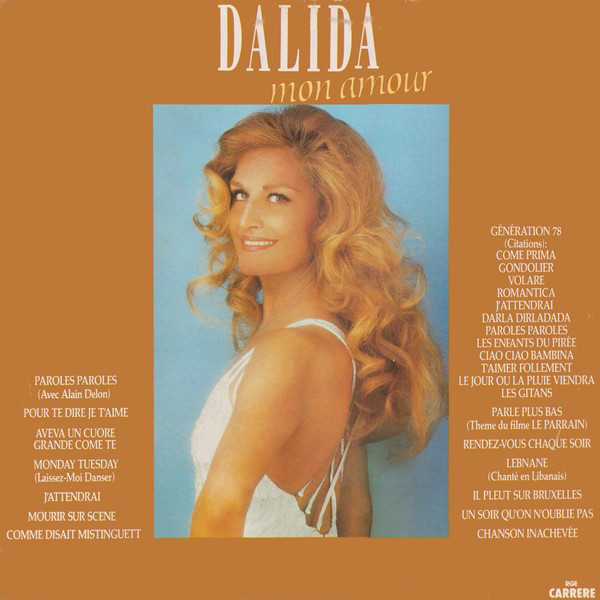 DALIDA MON AMOUR  LP BRAZIL   / DALIDA-CD-RECORDS-BOUTIQUE- VINYLS-COLLECTORS-DISQUES