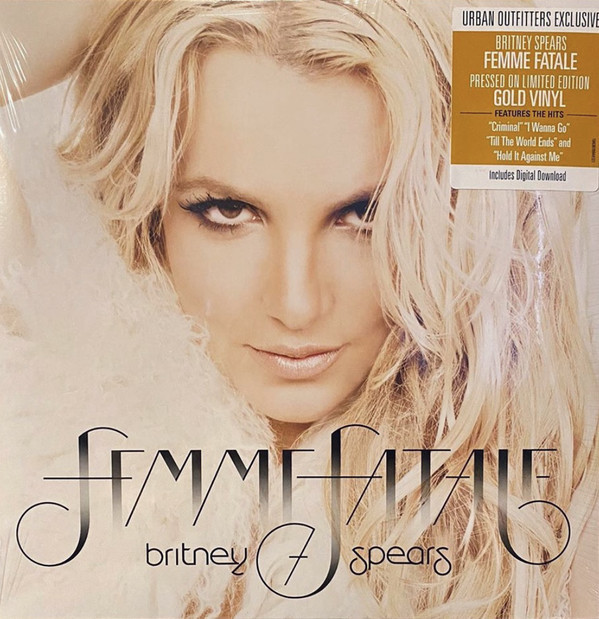 FEMME FATALE 33T GOLD  USA  / BRITNEY SPEARS-CD-DISQUES-BOUTIQUE VINYLES-SHOP-COLLECTORS-STORE