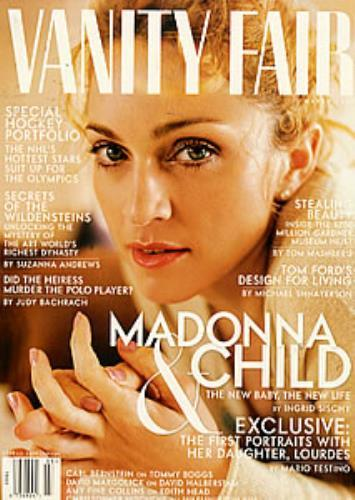 VANITY FAIR MAGAZINE USA 1998 MADONNA-CD-DISQUES-RECORDS-BOUTIQUE VINYLES-SHOP-STORE-LPS-VINYLSA