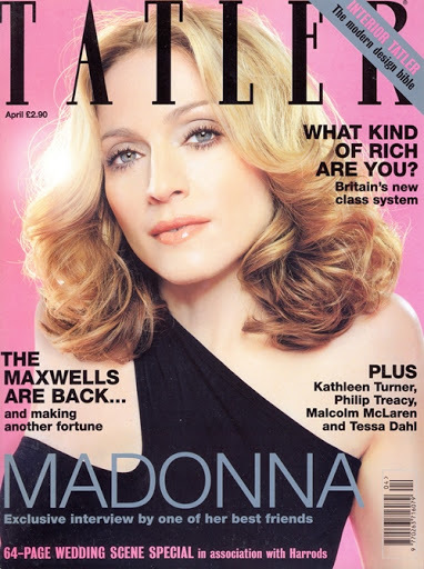 TATLER MAGAZINE 2000 UK  MADONNA-CD-DISQUES-RECORDS-BOUTIQUE VINYLES-SHOP-STORE-LPS-VINYLS