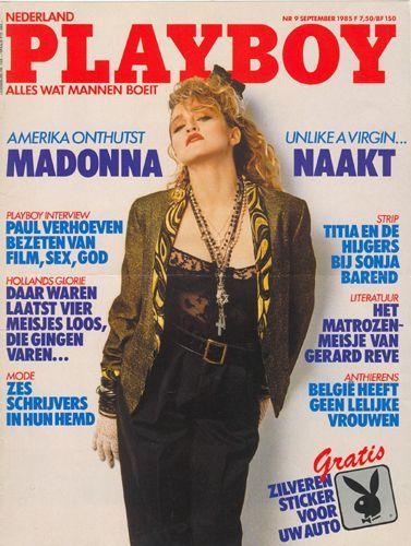 PLAYBOY  MAGAZINE  1985 PAYS BAS MADONNA-CD-DISQUES-RECORDS-BOUTIQUE VINYLES-SHOP-STORE-LPS-VINYLS