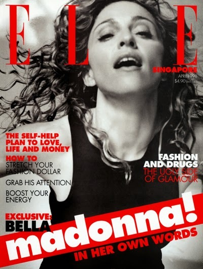 ELLE   MAGAZINE 1998 SINGAPOUR  MADONNA-CD-DISQUES-RECORDS-BOUTIQUE VINYLES-SHOP-STORE-LPS-VINYLS