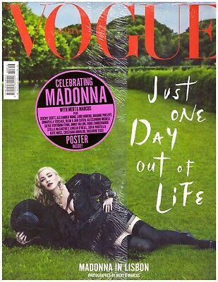 VOGUE MAGAZINE  ITALIE 2018  /MADONNA-CD-DISQUES-BOUTIQUE VINYLES-SHOP-COLLECTORS-STORE