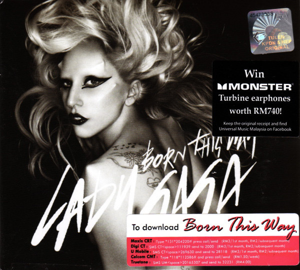 BORN THIS WAY CD MAXI MALAYSIE / LADY GAGA-CD-DISQUES-BOUTIQUE VINYLES-SHOP-COLLECTORS-STORE