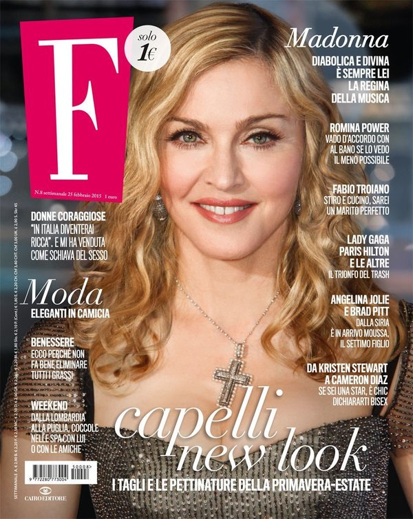 F MAGAZINE 2015  ITALIE MADONNA-CD-DISQUES-RECORDS-BOUTIQUE VINYLES-SHOP-STORE-LPS-VINYLS