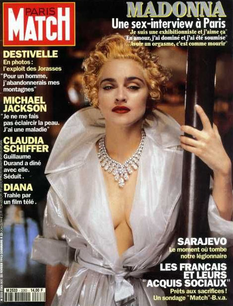 PARIS MATCH 1993 FRANCE MADONNA-CD-DISQUES-RECORDS-BOUTIQUE VINYLES-SHOP-STORE-LPS-VINYLS-DISQUE