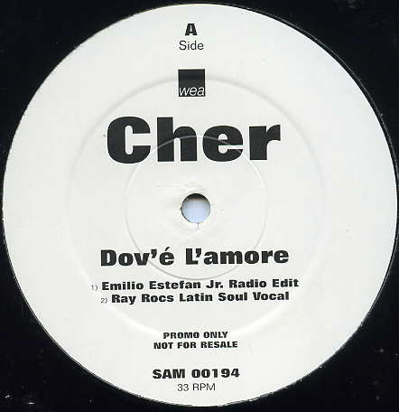DOV'E L'AMORE  MAXI 45T SAMPLER  UK    / CHER-CD-DISQUES-VINYLES-SHOP-COLLECTORS-STORE-DISQUAIRE
