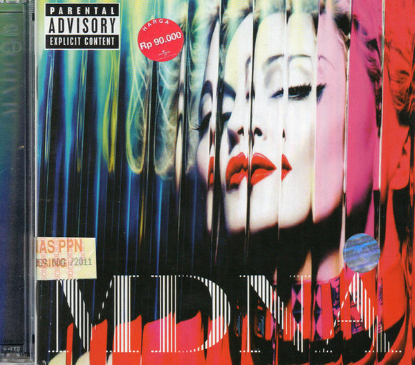 MDNA BOX  CD DELUXE INDONESIE / MADONNA-DISQUES-RECORDS-BOUTIQUE VINYLES-SHOP-STORE-LPS-VINYLS