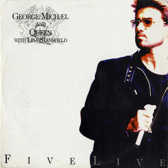 FIVE  LIVE 33T COREE / GEORGE MICHAEL-WHAM-CD-DISQUES-RECORDS-BOUTIQUE VINYLES-