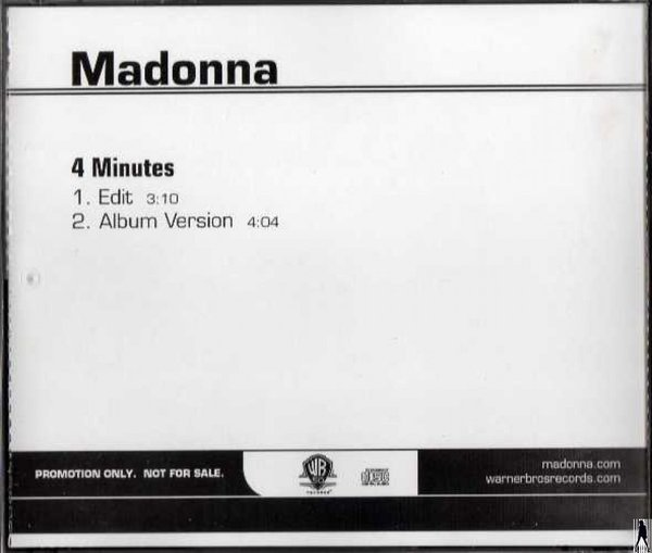 4 MINUTES / CDS SAMPLER USA   / MADONNA - CD - DISQUES - RECORDS -  BOUTIQUE VINYLES