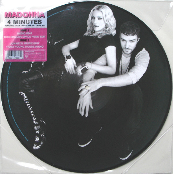4 MINUTES / MAXI 45T PICTURE DISC USA / MADONNA - CD - DISQUES - RECORDS -  BOUTIQUE VINYLES