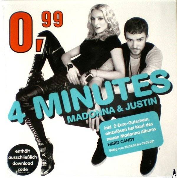 4 MINUTES DOWNLOW CARD GERMANY SEALED / MADONNA - CD - DISQUES - RECORDS -  BOUTIQUE VINYLES