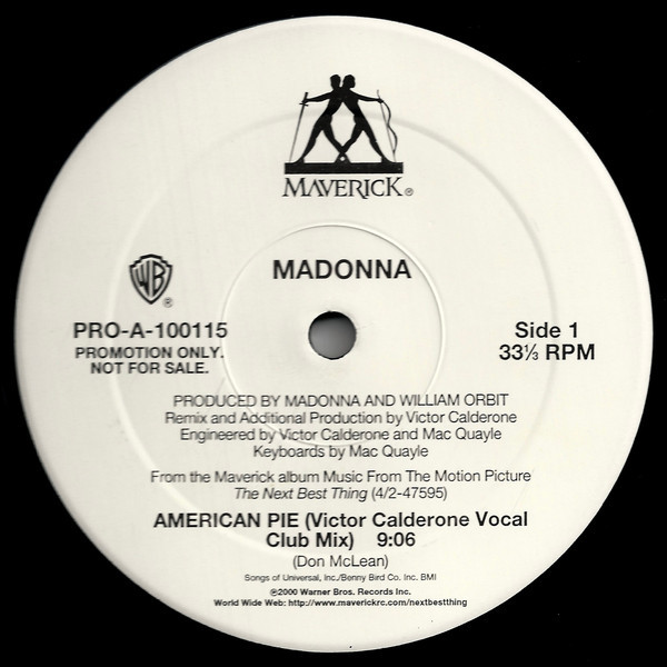 AMERICAN PIE MAXI 45T SAMPLER USA / MADONNA - CD - DISQUES - RECORDS -  BOUTIQUE VINYLES