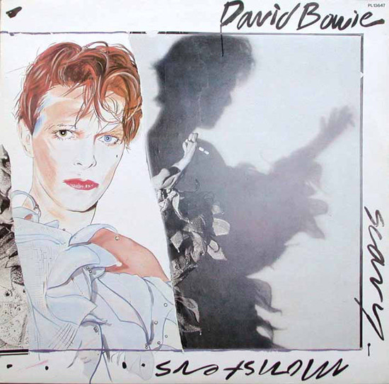 SCARY MONSTERS   33T  ALLEMAGNE /  DAVID BOWIE - CD - DISQUES - RECORDS -  BOUTIQUE VINYLES