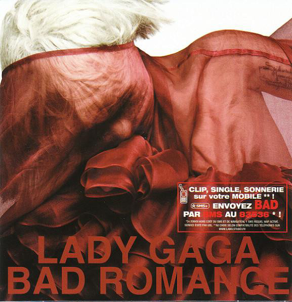BAD ROMANCE CD SINGLE FRANCE / LADY GAGA  - CD - RECORDS -  BOUTIQUE VINYLES