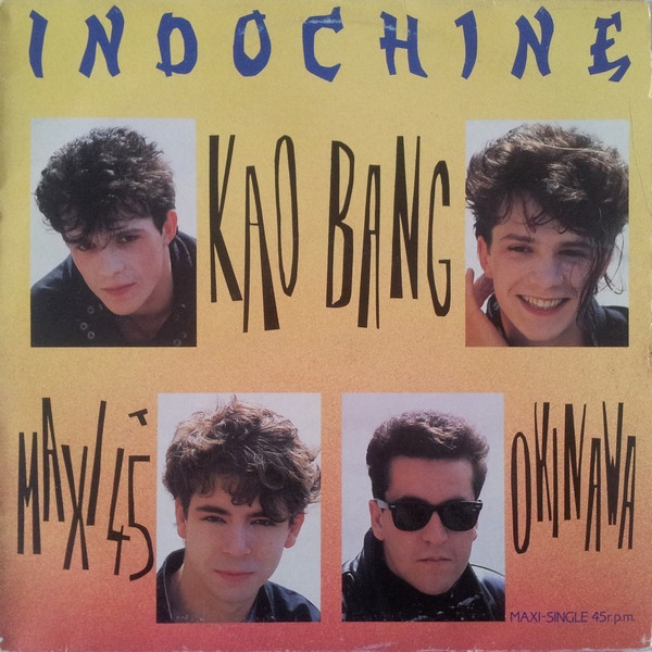 KAO BANG MAXI 45T ESPAGNE / INDOCHINE-CD-DISQUES-RECORDS-BOUTIQUE VINYLES-RECORDS