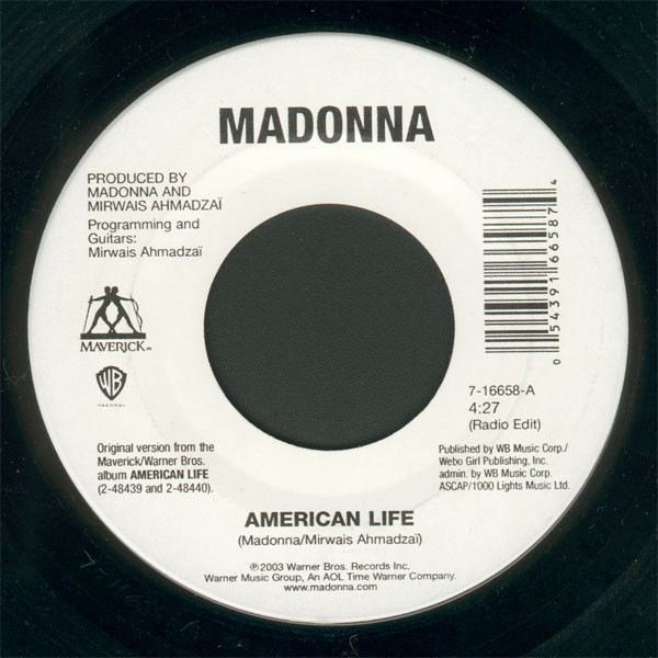 AMERICAN LIFE 7 INCHES USA/ MADONNA-CD-DISQUES-RECORDS-BOUTIQUE VINYLES-SHOP-STORE-COLLECTORS