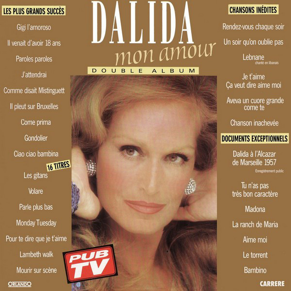 DALIDA MON AMOUR 33T FRANCE /  DALIDA-CD-DISQUES-RECORDS-BOUTIQUE VINYLES-RECORDS