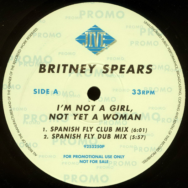 I'M NOT A GIRL 12 MAXI SAMPLER UK  / BRITNEY SPEARS-CD--LPS- VINYLS-SHOP-COLLECTORS-STORE-AWARDS