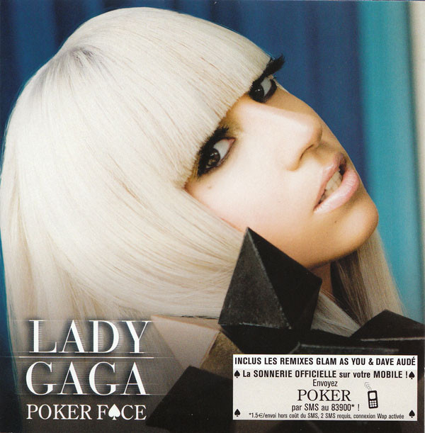 POKER FACE CD SINGLE FRANCE / LADY GAGA-CD-DISQUES-RECORDS-STORE-LPS-VINYLS-SHOP-COLLECTORS-AWARDS