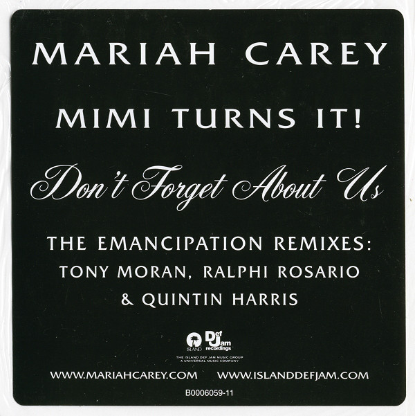DON'T FORGET 12 MAXI USA MARIAH CAREY-RECORDS-STORE-LPS-VINYLS-SHOP-COLLECTORS-AWARDS