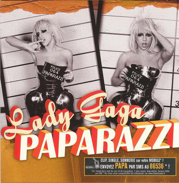 PAPARAZZI CD SINGLE FRANCE / LADY GAGA-CD-DISQUES-RECORDS-STORE-LPS-VINYLS-SHOP-COLLECTORS-AWARDS
