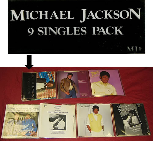 9 SINGLES PACK RED 7 INCHES UK  / MICHAEL JACKSON-CD-RECORDS-VINYLS SHOP-COLLECTORS