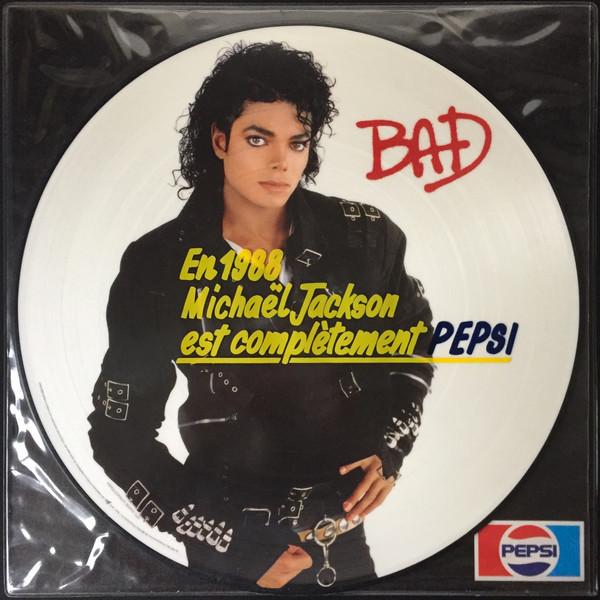 BAD PICTURE DISC SAMPLER FRANCE  / MICHAEL JACKSON-CD-RECORDS-VINYLS SHOP-COLLECTORS