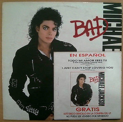 BAD PICTURE DISC NETHERLAND  / MICHAEL JACKSON-CD-RECORDS-VINYLS SHOP-COLLECTORS