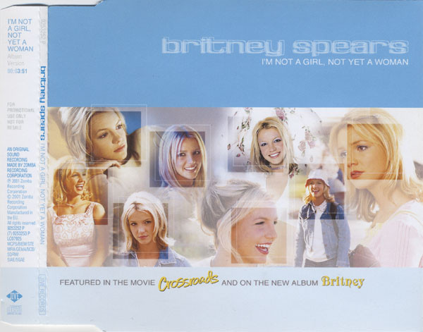 I'M NOT A GIRL CD SAMPLER EUROPE / BRITNEY SPEARS-CD--LPS- VINYLS-SHOP-COLLECTORS-STORE-AWARDS
