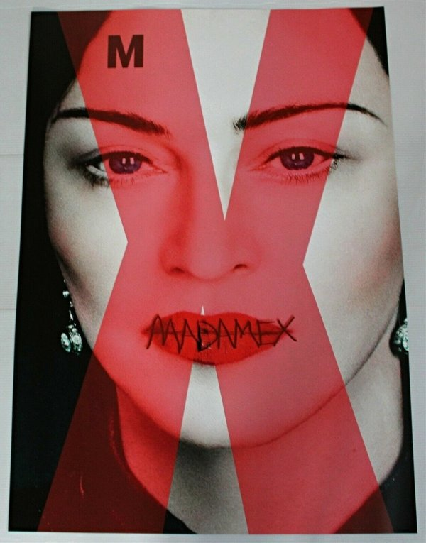 POSTER  MADAME X USA  / MADONNA - CD - DISQUES - RECORDS -  BOUTIQUE VINYLES-COLLECTORS