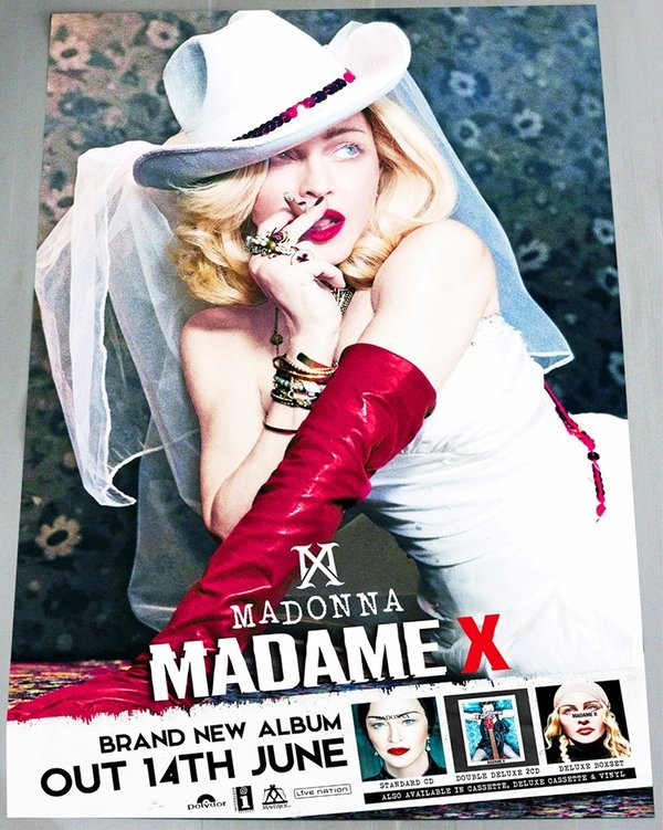 POSTER  MADAME X UK / MADONNA - CD - DISQUES - RECORDS -  BOUTIQUE VINYLES-COLLECTORS