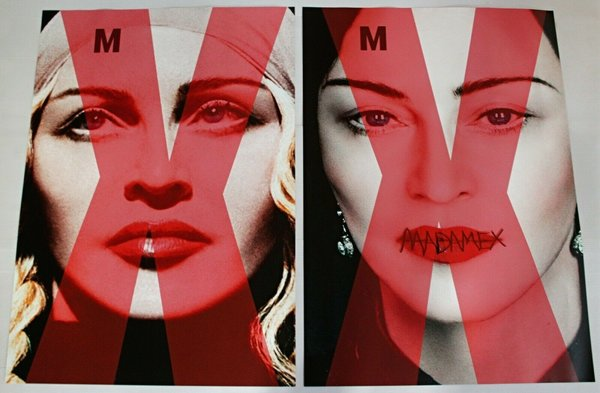LOT 2 POSTER  MADAME X USA  / MADONNA - CD - DISQUES - RECORDS -  BOUTIQUE VINYLES-COLLECTORS