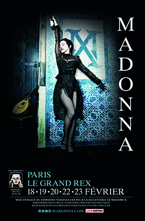 POSTER  MADAME X  FRANCE / MADONNA - CD - DISQUES - RECORDS -  BOUTIQUE VINYLES-COLLECTORS