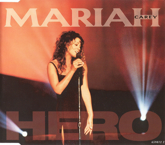 HERO CD MAXI UK  MARIAH CAREY-RECORDS-STORE-LPS-VINYLS-SHOP-COLLECTORS-AWARDS