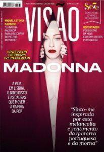VISAO MAGAZINE (PORTUGAL) JUIN  2019   / MADONNA-CD-DISQUES-BOUTIQUE VINYLES-SHOP-COLLECTORS-STORE