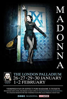POSTER   MADAME X  LONDRES / MADONNA - CD - DISQUES - RECORDS - BOUTIQUE VINYLES- SHOP-COLLECTORS
