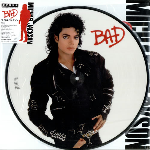 BAD PICTURE DISC JAPAN/ MICHAEL JACKSON-CD-RECORDS-VINYLS SHOP-COLLECTORS