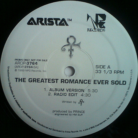 THE GREATEST ROMANCE 12 SAMPLER USA  / PRINCE-CD-DISQUES-RECORDS-BOUTIQUE VINYLES-RECORDS