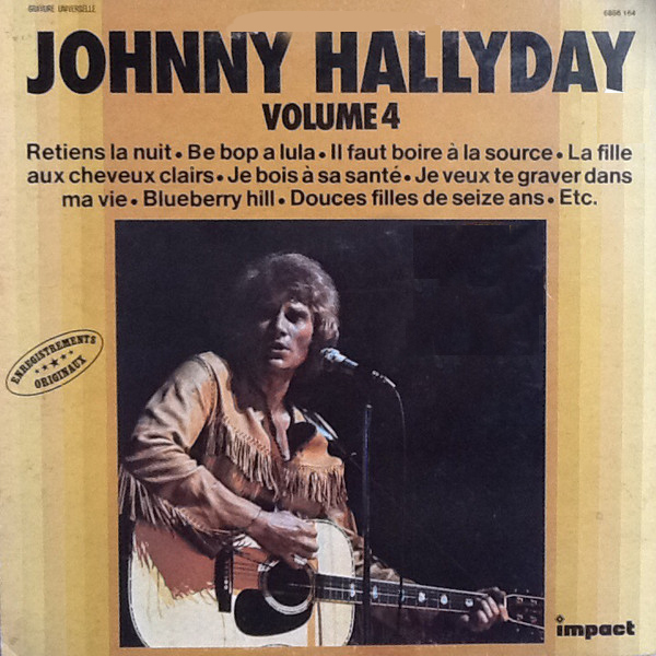 VOLUME 4  LP FRANCE  / JOHNNY HALLYDAY-CD-DISQUES-RECORDS-BOUTIQUE VINYLES-RECORDS
