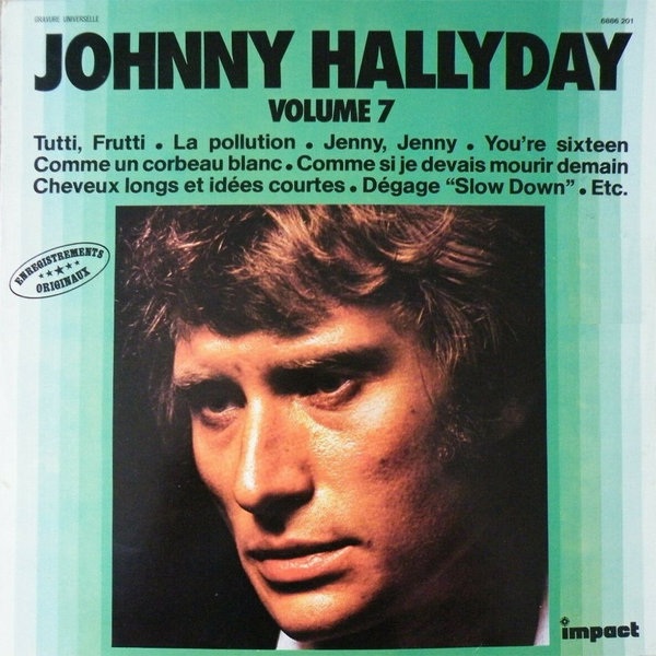 VOLUME 7  LP FRANCE  / JOHNNY HALLYDAY-CD-DISQUES-RECORDS-BOUTIQUE VINYLES-RECORDS