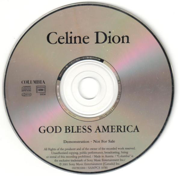GOD BLESS AMERICA CD SAMPLER  EUROPE / CELINE DION-CD--LPS- VINYLS-SHOP-COLLECTORS-STORE-AWARDS